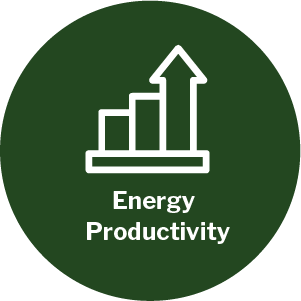 Energy productivity theme icon