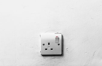 lightswitch on white wall