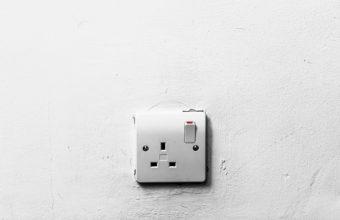 lightswitch on white wall